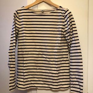 J. Crew navy and white striped tee